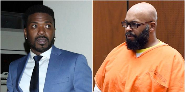 Ray J, left, and Suge Knight, right.