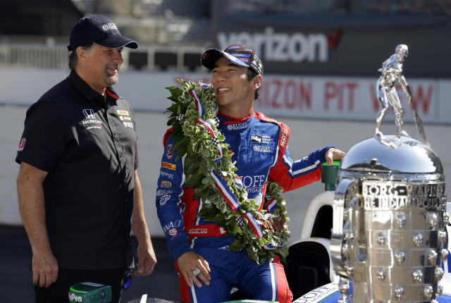 Takuma Sato won the 2017 Indianapolis 500. (AP Photo/Michael Conroy, File)