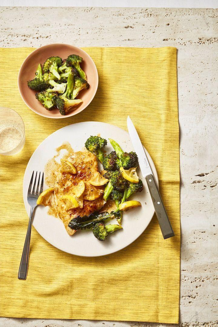 "<p>There's a good chance you already have all the ingredients you need for this easy weeknight dinner.</p><p><em><a href=""https://www.goodhousekeeping.com/food-recipes/healthy/a28650977/pan-fried-chicken-roasted-broccoli-recipe/"" rel=""nofollow noopener"" target=""_blank"" data-ylk=""slk:Get the recipe for Pan-Fried Chicken With Lemony Roasted Broccoli »"" class=""link rapid-noclick-resp"">Get the recipe for Pan-Fried Chicken With Lemony Roasted Broccoli »</a></em></p>"