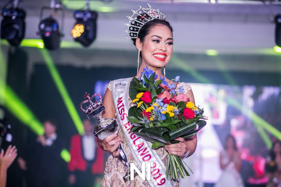 Bhasha Mukherjee won the prestigious Miss England title earlier this month.  [Photo courtesy of www.missengland.info]Make up artist: Joggy Khan @MakeupStorePro