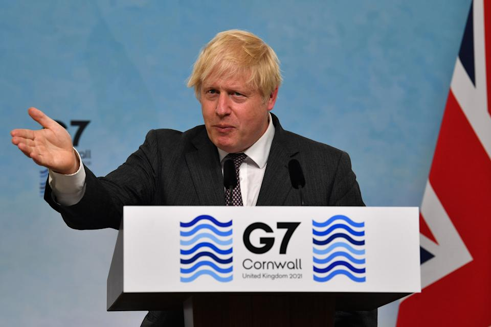 Boris Johnson hasrefused to say whether the June 21 schedule could be pushed back. (Photo: WPA Pool via Getty Images)