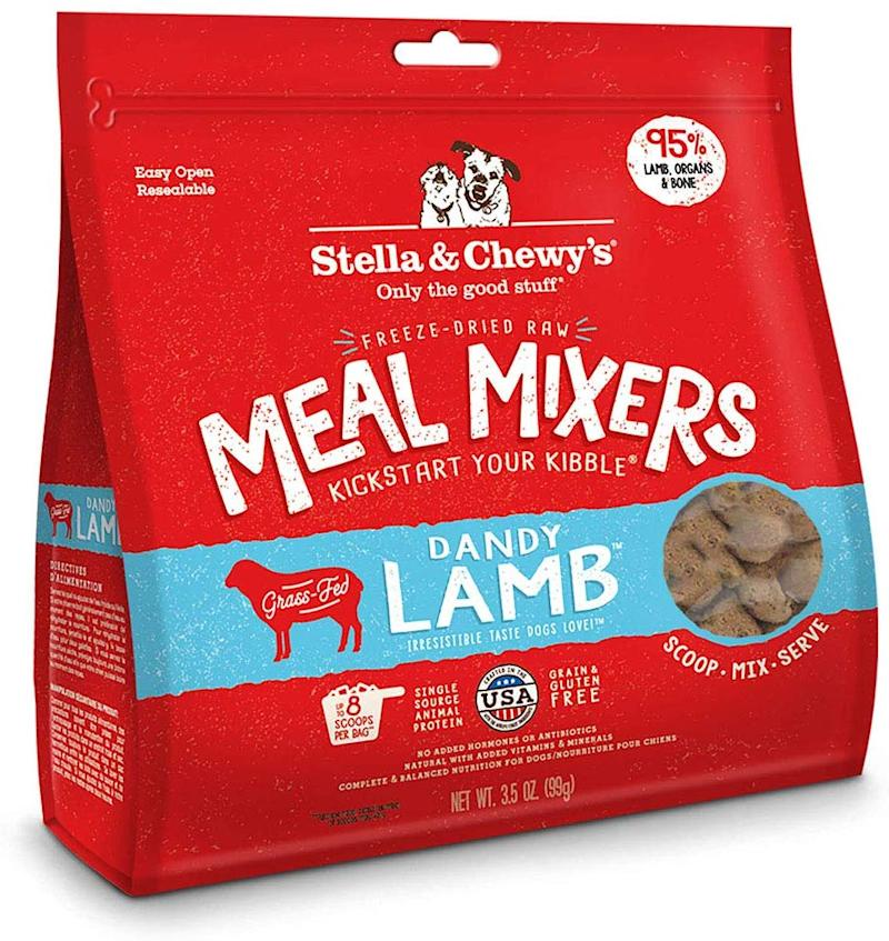 Stella & Chewy's Freeze-Dried Raw Stella's Super Beef Meal Mixers Grain-Free Dog Food Topper. (Photo: Amazon)