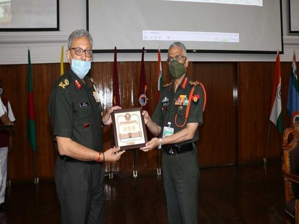 Army chief General MM Naravane during his visit to College of Defence Management and Bison Division at Secunderabad, Telangana on Wendesday.