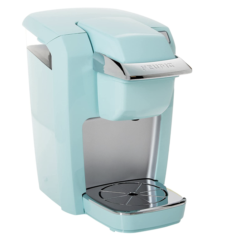 """<p><strong>Keurig</strong></p><p>amazon.com</p><p><strong>$99.99</strong></p><p><a href=""""https://www.amazon.com/dp/B074MM8Y3M?tag=syn-yahoo-20&ascsubtag=%5Bartid%7C10049.g.29194509%5Bsrc%7Cyahoo-us"""" rel=""""nofollow noopener"""" target=""""_blank"""" data-ylk=""""slk:Shop Now"""" class=""""link rapid-noclick-resp"""">Shop Now</a></p><p>They'll be forever grateful for a Keurig that makes a fast cup of Joe when they're cramming for an exam. Plus, the mini size is perfect for a college dorm or smaller room.</p>"""
