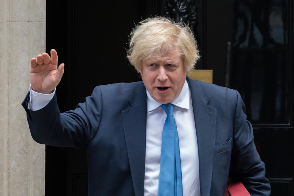 British Prime Minister Boris Johnson leaves 10 Downing Street for PMQs at the House of Commons on 17 June, 2020 in London, England. (Photo by WIktor Szymanowicz/NurPhoto via Getty Images)