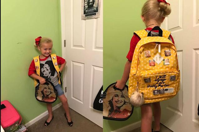 This 7-year-old is Dolly Parton's biggest fan. (Photo: Facebook/Krystal Woodley)
