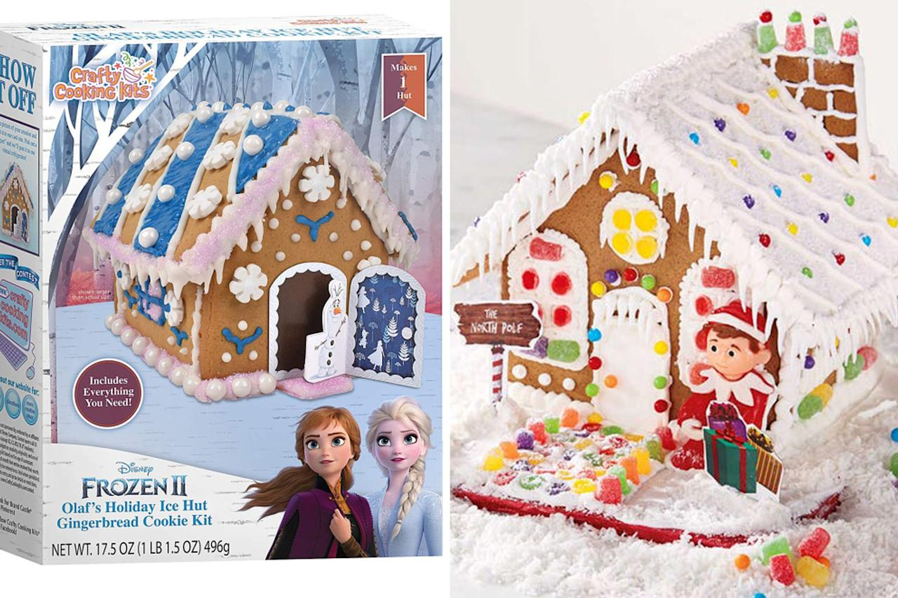 """If you're looking for a fun indoor activity this winter, check out Walmart's diverse selection of <a href=""""https://www.walmart.com/browse/party-occasions/christmas-gingerbread/2637_1042319_1307155_5944704_7275599"""">gingerbread houses</a>. They have houses with themes ranging from <em><a href=""""http://goto.walmart.com/c/249354/565706/9383?subId1=PEO%2CTheBestNewHolidayFoodstoSnackonThisSeason%2Cmorganchaseraum%2CUnc%2CGal%2C7390310%2C201912%2CI&u=https%3A%2F%2Fwww.walmart.com%2Fip%2FSpiderman-Gingerbread-House-Battle-Scene-Kit%2F128267483"""" target=""""_blank"""" rel=""""nofollow"""">Spiderman</a> </em>and <a href=""""https://www.walmart.com/ip/Disney-Frozen-2-Castle-Pre-Baked-Gingerbread-Cookie-Kit/945649283""""><em>Frozen I</em>I</a> to <a href=""""http://goto.walmart.com/c/249354/565706/9383?subId1=PEO%2CTheBestNewHolidayFoodstoSnackonThisSeason%2Cmorganchaseraum%2CUnc%2CGal%2C7390310%2C201912%2CI&u=https%3A%2F%2Fwww.walmart.com%2Fip%2FHoliday-Time-Mini-Oreo-Gingerbread-House%2F765225224"""" target=""""_blank"""" rel=""""nofollow"""">Oreo</a> and <a href=""""http://goto.walmart.com/c/249354/565706/9383?subId1=PEO%2CTheBestNewHolidayFoodstoSnackonThisSeason%2Cmorganchaseraum%2CUnc%2CGal%2C7390310%2C201912%2CI&u=https%3A%2F%2Fwww.walmart.com%2Fip%2FCU-Elf-on-the-Shelf-House-Kit%2F144562687"""" target=""""_blank"""" rel=""""nofollow"""">Elf on the Shelf</a>.  <strong>Buy it!</strong>Disney Frozen 2 Castle Pre-Baked Gingerbread Cookie Kit, $13, <a href=""""http://goto.walmart.com/c/249354/565706/9383?subId1=PEO%2CTheBestNewHolidayFoodstoSnackonThisSeason%2Cmorganchaseraum%2CUnc%2CGal%2C7390310%2C201912%2CI&u=https%3A%2F%2Fwww.walmart.com%2Fip%2FDisney-Frozen-2-Castle-Pre-Baked-Gingerbread-Cookie-Kit%2F945649283"""" target=""""_blank"""" rel=""""nofollow"""">Walmart.com</a>"""