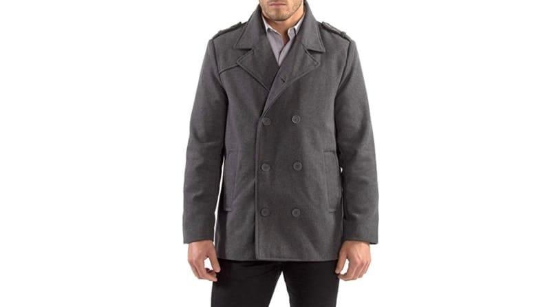 Reviewers praise this peacoat's warmth-to-price ratio.