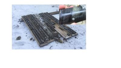 Figure 5: Historical drill core from drill hole DL-2006-01 which yielded historically un-assayed visible gold in the Auro zone. (CNW Group/Great Bear Resources Ltd.)