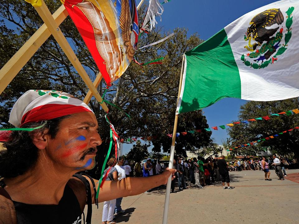 Jose Gregorio Perez attends Cinco de Mayo festivities on May 5, 2010, at El Pueblo de Los Angeles Historic Site on Olvera Street in downtown Los Angeles, California (Photo by Kevork Djansezian/Getty Images)