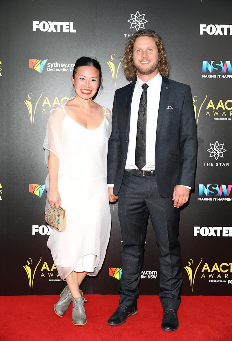 """""""Luckily Jono cooks a lot, which is really great and if all else fails we just go to my mum's, around the corner! """" Poh said of her and husband Jono's home cooking endeavours. Photo: Getty"""
