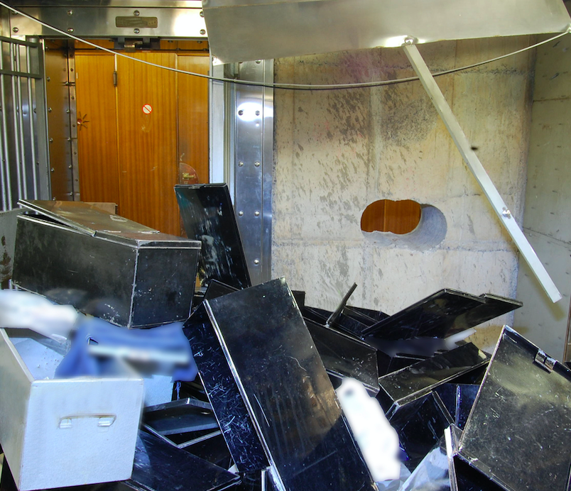<em>The incident happened a short distance from the Hatton Garden Safe Deposit company, which was raided in April 2015 (Getty)</em>