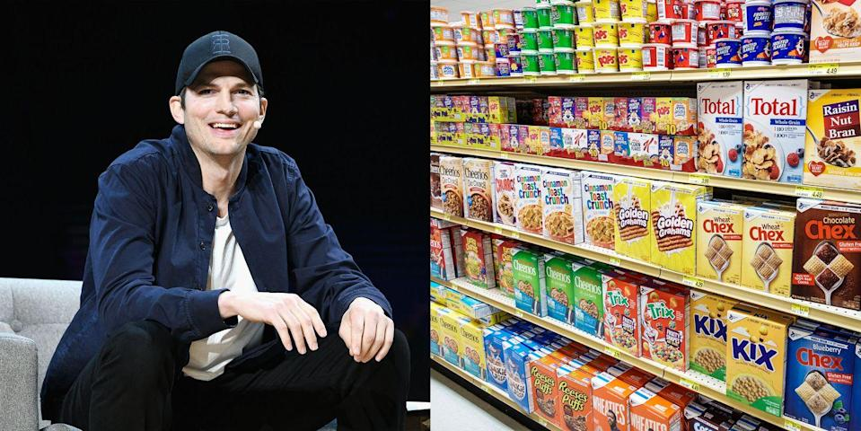 <p>Growing up in Iowa, Ashton Kutcher had many odd jobs before his successful move out to Hollywood. He worked on his family's farm living his best cowboy life, helping with the animals. After that he worked at General Mills, sweeping up cereal.</p>