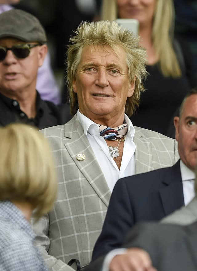 Sir Rod Stewart charity dinner party