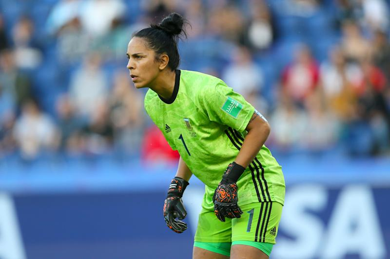 Argentina goalkeeper Vanina Correa during the FIFA Women's World Cup, Group D match at the Parc des Princes, Paris. (Photo by Richard Sellers/PA Images via Getty Images)