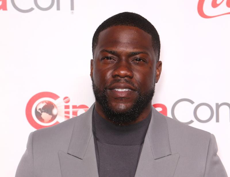 "LAS VEGAS, NEVADA - APRIL 04: Recipient of the ""International Star of the Year"" award actor and comedian Kevin Hart attends the CinemaCon Big Screen Achievement Awards at Omnia Nightclub at Caesars Palace on April 04, 2019 in Las Vegas, Nevada. CinemaCon is the official convention of the National Association of Theatre Owners. (Photo by Gabe Ginsberg/WireImage)"