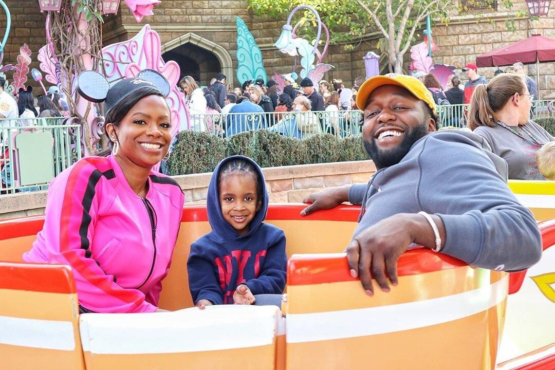 """We definitely were happy at the #HappiestPlace on earth today!"" wrote the <em>Real Housewives of Atlanta</em> star, who visited <a href=""https://www.instagram.com/p/B8S6Boglr66/"">Disneyland in California</a> with her four-year-old son, Ace, and husband, Todd Tucker."