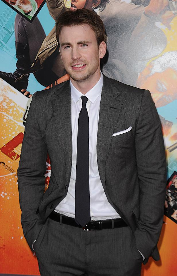 "<a href=""http://movies.yahoo.com/movie/contributor/1803006988"">Chris Evans</a> at the Los Angeles premiere of <a href=""http://movies.yahoo.com/movie/1810096356/info"">The Losers</a> - 04/20/2010"