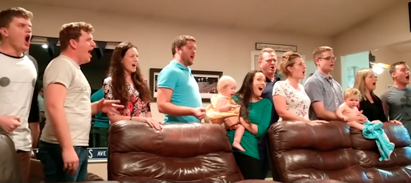You need to hear this family's rendition of 'One Day More' from Les Miserables. Photo: Facebook/Jordan LeBaron