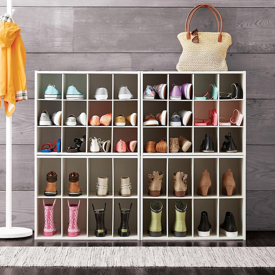 "<p>Keep all your pairs in order with this <a href=""https://www.popsugar.com/buy/12-Pair-Shoe-Organizer-487848?p_name=12-Pair%20Shoe%20Organizer&retailer=containerstore.com&pid=487848&price=30&evar1=casa%3Auk&evar9=46719307&evar98=https%3A%2F%2Fwww.popsugar.com%2Fhome%2Fphoto-gallery%2F46719307%2Fimage%2F46719349%2F12-Pair-Shoe-Organizer&list1=shopping%2Corganization%2Capartments%2Chome%20organization&prop13=api&pdata=1"" rel=""nofollow"" data-shoppable-link=""1"" target=""_blank"" class=""ga-track"" data-ga-category=""Related"" data-ga-label=""https://www.containerstore.com/s/closet/shoe-storage/12-pair-shoe-organizer/12d?productId=10008147"" data-ga-action=""In-Line Links"">12-Pair Shoe Organizer</a> ($30, originally $40).</p>"