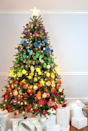 """<p>Arrange your ornaments in a ROYGBIV pattern, and you'll have yourself a very colorful Christmas.</p><p><em><strong>Get the </strong><strong>tutorial at <a href=""""http://www.linesacross.com/2015/11/rainbow-christmas-tree.html/"""" rel=""""nofollow noopener"""" target=""""_blank"""" data-ylk=""""slk:Lines Across"""" class=""""link rapid-noclick-resp"""">Lines Across</a>. </strong></em><br></p><p><a class=""""link rapid-noclick-resp"""" href=""""https://www.amazon.com/Christmas-Baubles-Shatterproof-Assorted-decoration/dp/B074KWSS53/?tag=syn-yahoo-20&ascsubtag=%5Bartid%7C10070.g.2025%5Bsrc%7Cyahoo-us"""" rel=""""nofollow noopener"""" target=""""_blank"""" data-ylk=""""slk:BUY ASSORTED ORNAMENTS"""">BUY ASSORTED ORNAMENTS</a></p>"""
