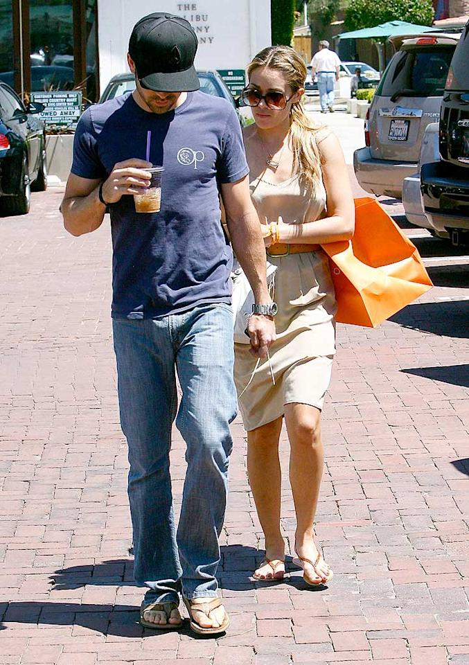 "Lauren Conrad trades in ""The Hills"" for a day of shopping with boyfriend Kyle Howard in Malibu. AKM/<a href=""http://www.x17online.com"" target=""new"">X17 Online</a> - April 20, 2009"