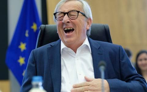 EU Commission President Jean-Claude Juncker reacts at the start of the weekly college meeting of the European Commission in Brussels, Belgium, 03 July 2019 - Credit: OLIVIER HOSLET/EPA-EFE/REX