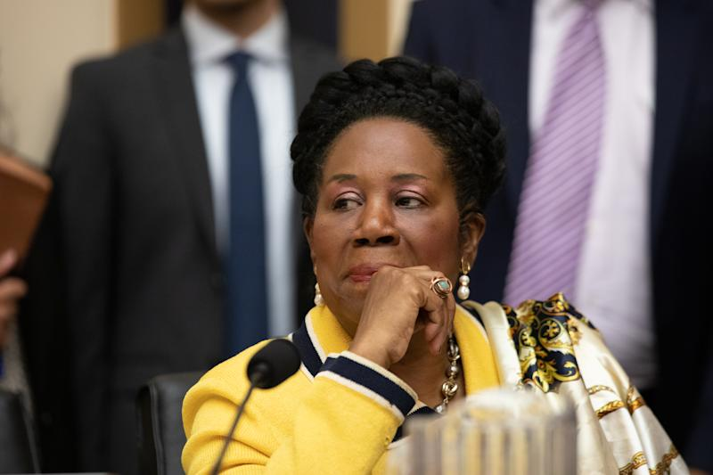 Rep. Sheila Jackson Lee (D-TX), listens during a hearing about reparations for the descendants of slaves for the House Judiciary Subcommittee on the Constitution, Civil Rights and Civil Liberties, on Capitol Hill in Washington, D.C. on Wednesday June 19, 2019. (Photo by Cheriss May/NurPhoto via Getty Images)