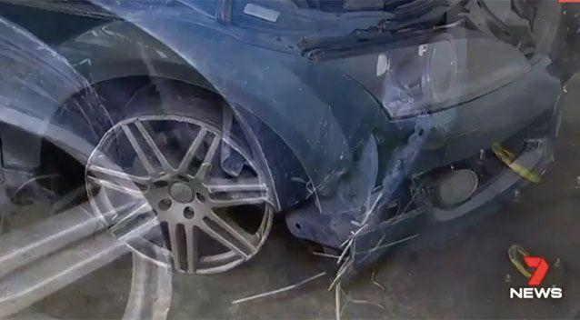 Witnesses saw sparks fly as the car raced by. Source: 7 News