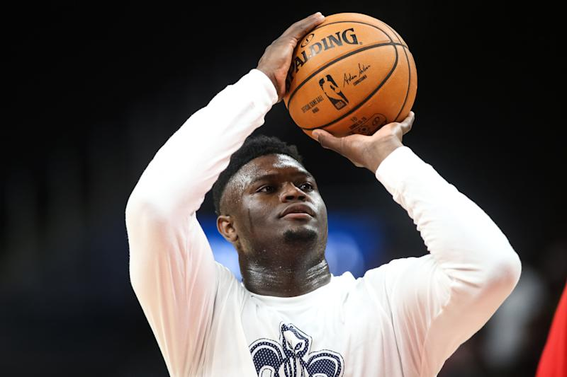 Zion Williamson, pregame. (Getty)