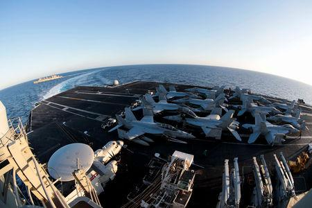 US sends naval strike group to Middle East in 'message' to Iran