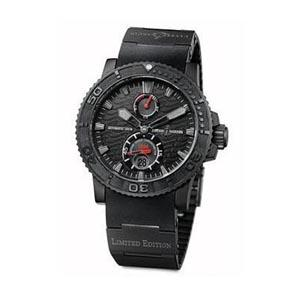 Ulysse Nardin Black Ocean - Limited to 1,846 numbered pieces worldwide, the Black Ocean is a special version of UN's excellent Maxi Marine Diver range. The certified chronometer has a black-on-black design that gives it an ominous aura.