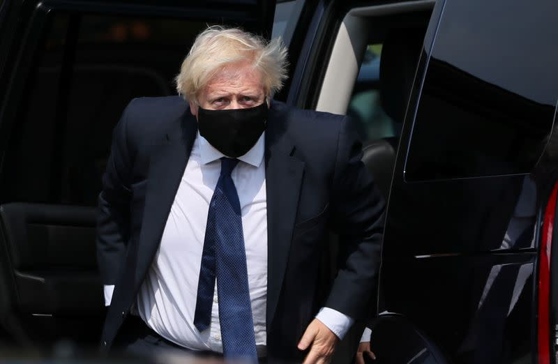 UK will be 'ruthless' over quarantine, Johnson says when asked about France
