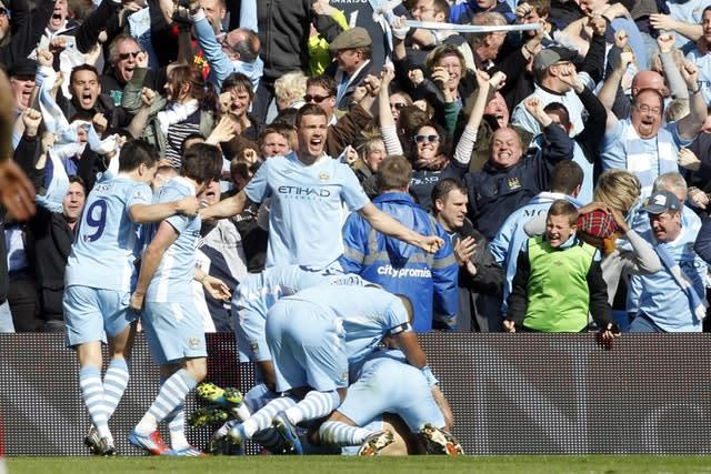Sergio Aguero's last-gasp goal gave Manchester City their first Premier League title (Peter Byrne/PA)