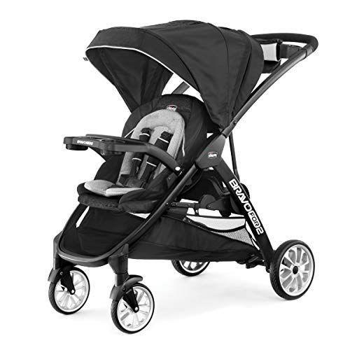 """<p><strong>Chicco</strong></p><p>amazon.com</p><p><strong>$329.99</strong></p><p><a href=""""https://www.amazon.com/dp/B08DD7MW21?tag=syn-yahoo-20&ascsubtag=%5Bartid%7C2089.g.37348107%5Bsrc%7Cyahoo-us"""" rel=""""nofollow noopener"""" target=""""_blank"""" data-ylk=""""slk:Shop Now"""" class=""""link rapid-noclick-resp"""">Shop Now</a></p><p>I could write sonnets about this stroller. You can attach your car seat, though it reclines <em>really</em> far. It has a machine-washable cover, and the base cleans with a hose quickly. It folds easily, and once it is collapsed, there's a <em>handle </em>to carry the collapsed stroller. </p><p>The seat and standing area for your older child is comfortable and compact. You don't feel like you're constantly at risk for kicking it as you push the stroller, which is an issue for some of the models. It has an easy-to-close seatbelt, it wipes clean if you need to clean it, and holy heck, it was never too hot in the seat, even in August in New York City. </p><p>Both seats are fine for children up to age 4, as well, so this thing has a long life ahead of it. The only drawback is that the handle is stationary, which might make it less comfortable for some. Take it from me — I'm 6 feet tall, and it was just fine for me.</p><p><strong>The Takeaway: </strong><br>Ample storage, easy collapsing, easy cleaning, super maneuverable, with safe, comfortable seats make this an easy choice for the top pick. </p><p><strong>More: </strong><a href=""""https://www.bestproducts.com/parenting/baby/a15073746/reviews-of-top-rated-car-seats/"""" rel=""""nofollow noopener"""" target=""""_blank"""" data-ylk=""""slk:Check Out the Best Car Seats Available Right Now"""" class=""""link rapid-noclick-resp"""">Check Out the Best Car Seats Available Right Now</a></p>"""