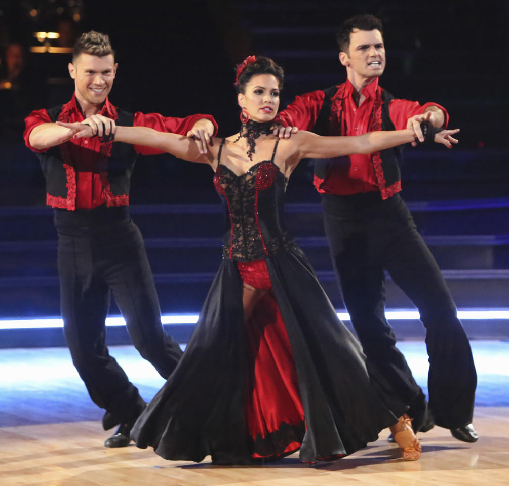 "Henry Byalikov, Melissa Rycroft and Tony Dovolani perform on ""Dancing With the Stars: All-Stars."""