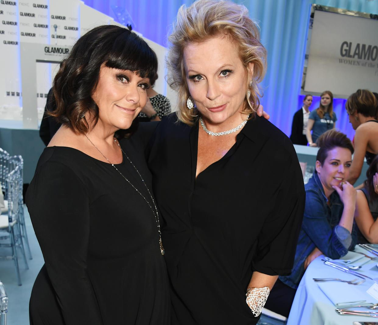 LONDON, ENGLAND - JUNE 07:  Dawn French (L) and Jennifer Saunders attend the Glamour Women Of The Year Awards in Berkeley Square Gardens on June 7, 2016 in London, United Kingdom.  (Photo by David M. Benett/Dave Benett/Getty Images)