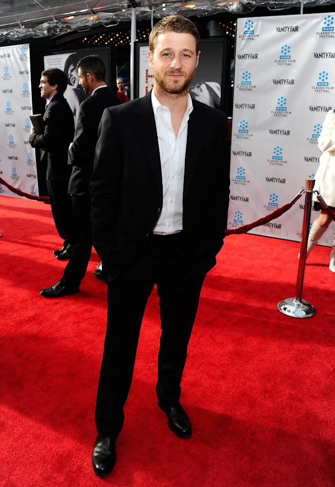 """HOLLYWOOD, CA - APRIL 12:  Actor Benjamin McKenzie arrives at the TCM Classic Film Festival opening night premiere of the 40th anniversary restoration of """"Cabaret"""" at Grauman's Chinese Theatre on April 12, 2012 in Hollywood, California.  (Photo by Alberto E. Rodriguez/Getty Images)"""