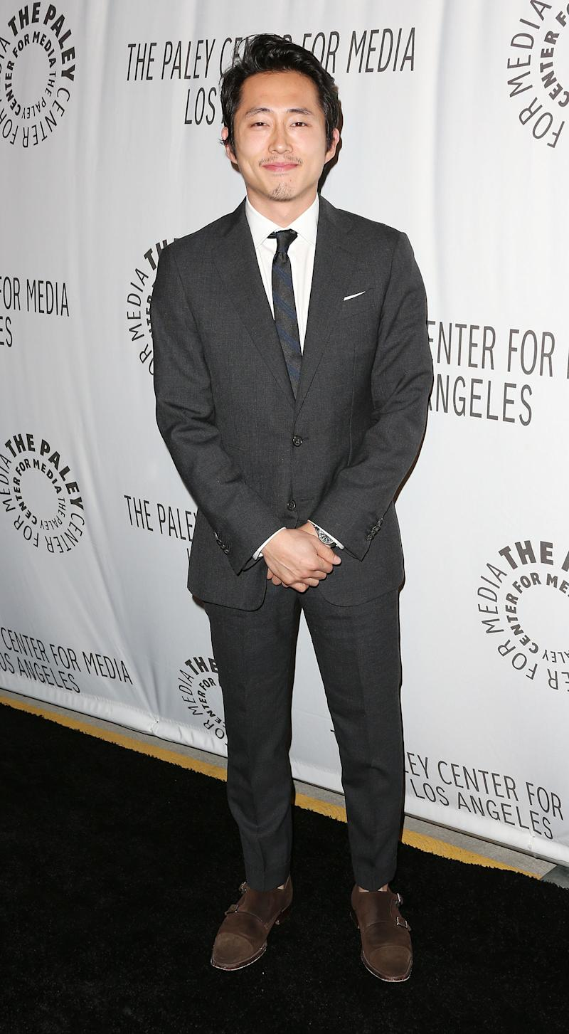 WEST HOLLYWOOD, CA - OCTOBER 22:  Actor Steven Yeun attends The Paley Center for Media's Annual Los Angeles Benefit at The Rooftop Of The Lot on October 22, 2012 in West Hollywood, California.  (Photo by Frederick M. Brown/Getty Images)