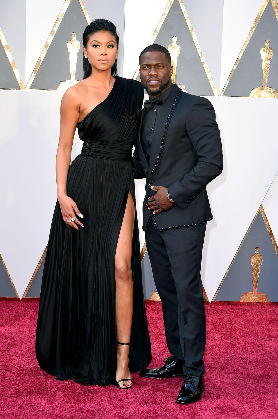 """<p>""""This is a power-couple paparazzi pose,"""" says Donaldson. Eniko and Kevin are confidently putting the strength of their relationship on full display. Their postures, stances, and arms on each other's backs prove that they're secure as long as they're together. </p>"""
