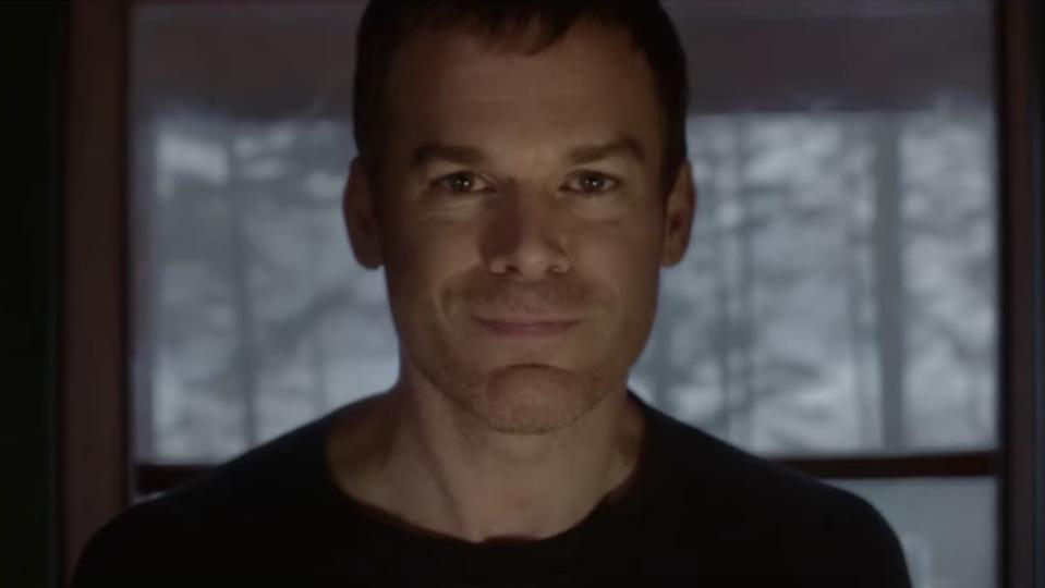 Michael C. Hall gives a wry smile as Dexter
