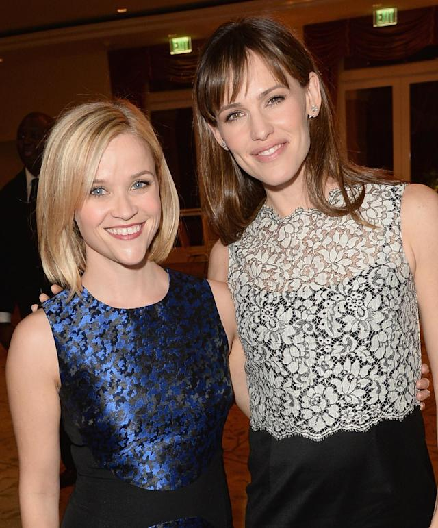 Reese Witherspoon and Jennifer Garner (pictured in 2013) are old pals, so Garner pulled out all the stops for her friend's 42nd birthday. (Photo: Jason Merritt/Getty Images for Children's Defense Fund-California)