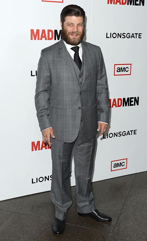 "Jay R. Ferguson arrives at the Premiere of AMC's ""Mad Men"" Season 6 at DGA Theater on March 20, 2013 in Los Angeles, California."