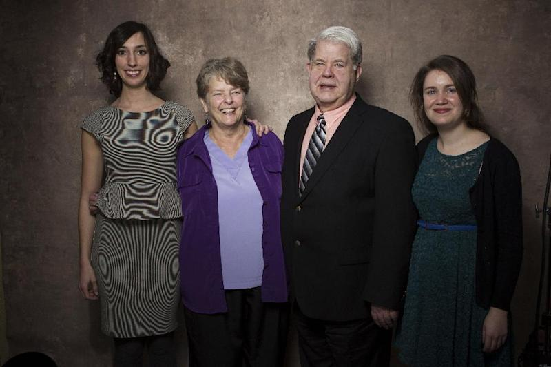 """From left, filmmaker Lana Wilson, Dr. Susan Robinson, Dr. LeRoy Carhart, and filmmaker Martha Shane from the documentary """"After Tiller"""" pose for a portrait during the 2013 Sundance Film Festival at the Fender Music Lodge, on Friday, Jan. 18, 2013 in Park City, Utah. (Photo by Victoria Will/Invision/AP Images)"""