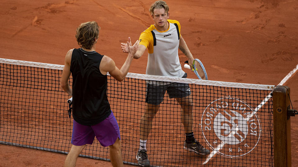 Alejandro Davidovich Fokina and Alexander Zverev, pictured here shaking hands after their quarter-final clash at the French Open.