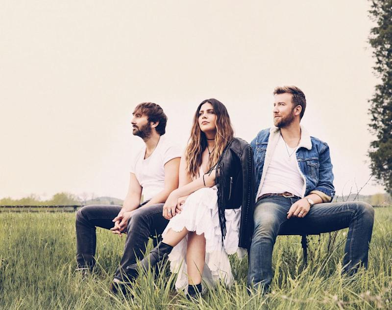 Dave Haywood, Hillary Scott and Charles Kelley of Lady Antebellum | Dove Shore