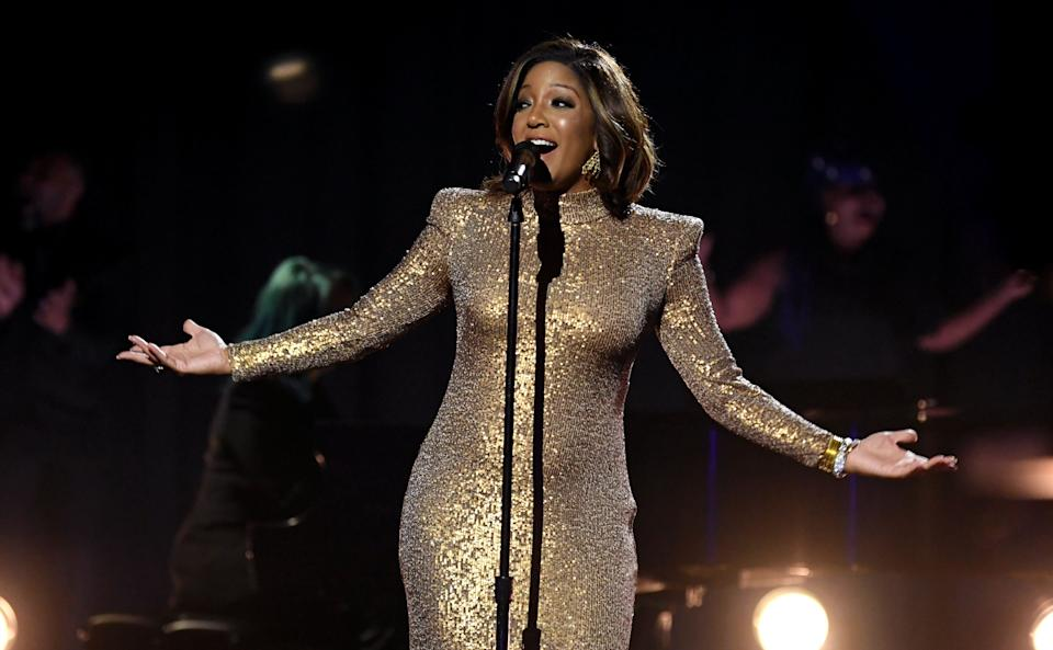 Mickey Guyton performs at the 2021 Grammy Awards in Los Angeles. (Photo: Kevin Winter via Getty Images)