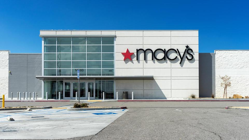 Victorville, CA / USA – April 13, 2020: Macy's department store temporarily closed due to the COVID-19 crisis at the Mall of Victor Valley in Victorville, CA.