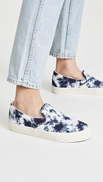 """<h3><a href=""""https://www.shopbop.com/sidewalk-slip-sneaker-tie-dye/vp/v=1/1527521539.htm"""" rel=""""nofollow noopener"""" target=""""_blank"""" data-ylk=""""slk:Madewell Sidewalk Slip On Tie Dye Sneakers"""" class=""""link rapid-noclick-resp"""">Madewell Sidewalk Slip On Tie Dye Sneakers</a></h3><br>""""I swear by slip-on shoes! The security line is a laces-free zone for this traveler."""" <em>– Emily, travels every other month</em><br><br><strong>Madewell</strong> Sidewalk Slip On Tie Dye Sneakers, $, available at <a href=""""https://www.shopbop.com/sidewalk-slip-sneaker-tie-dye/vp/v=1/1527521539.htm"""" rel=""""nofollow noopener"""" target=""""_blank"""" data-ylk=""""slk:Shopbop"""" class=""""link rapid-noclick-resp"""">Shopbop</a>"""