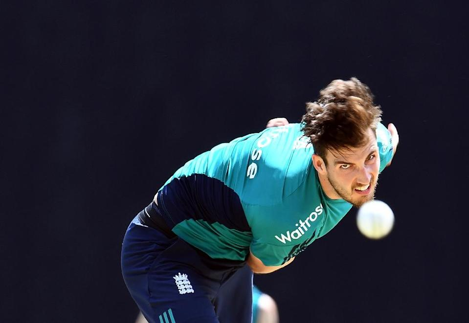 England's Steven Finn, pictured in March 2017, will travel with the squad to Manchester (AFP Photo/Jewel SAMAD)